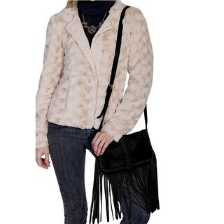 Scully Western Handbag Womens Cross Body Fringe Strap Black B109 - One size