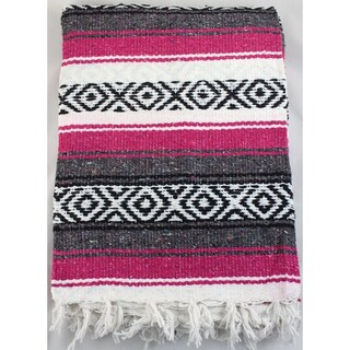 Sunnydaze Premium Mexican Beach Yoga Blanket