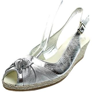 Sesto Meucci 1705 Women Open Toe Leather Wedge Heel