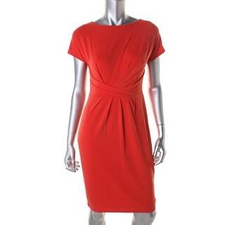 Anne Klein Womens Matte Jersey Pleated Wear to Work Dress - 14