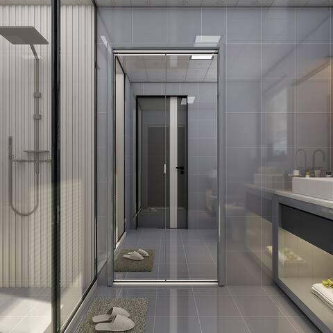 "Colonial Elegance Frameless Mirror Bi-Fold Closet Door White 30x80.5"""