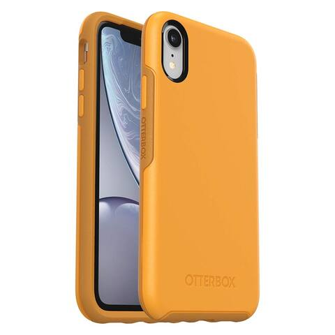 OtterBox Symmetry Series Case Lightweight And Protective, Easy Install For iPhone XR (ONLY) - Aspen Gleam, Citrus Sunflower