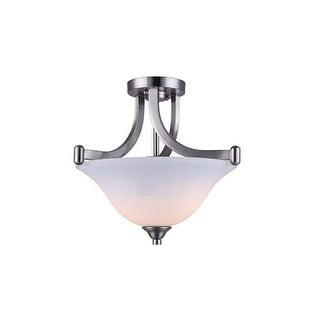 "Canarm ISF587A02 Rue 2 Light 15"" Wide Semi Flush Bowl Ceiling Fixture"