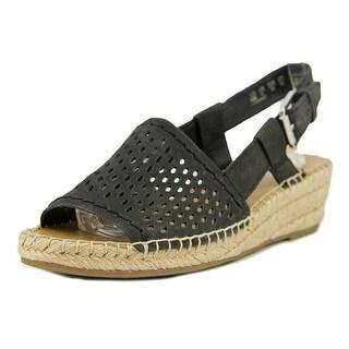 Franco Sarto Loanne Women Open Toe Leather Wedge Sandal