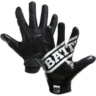 Battle Sports Science Receivers Hybrid Ultra-Stick Football Gloves - Black (5 options available)
