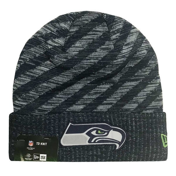 a2f3289c38c41 Shop New Era 2018 NFL Seattle Seahawks Touchdown Tech Stocking Knit Hat  Winter Beanie - Free Shipping On Orders Over  45 - Overstock - 23042993