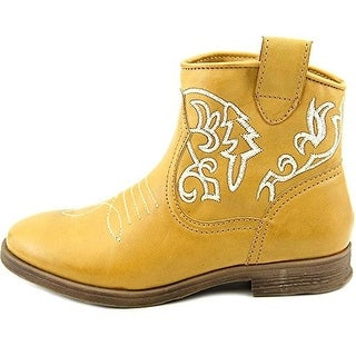 Dolce by Mojo Moxy Womens Tally Faux Leather Ankle Cowboy, Western Boots