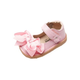 Mooshu Trainers Little Girls Pink Ready Set Mary Jane Squeaky Shoes