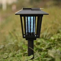 Costway Mosquito Insect Zapper Accent Kill bugs killer with Solar LED Garden Light Lamp