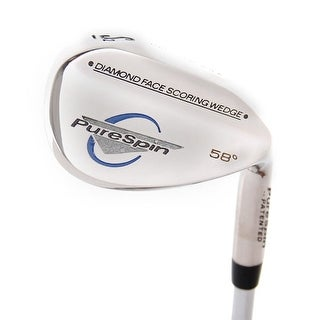 New Pure Spin Diamond Face Scoring Wedge 58.0* Steel RH