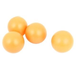Unique Bargains 4 Pcs 40mm Dia Packed Leisure Plastic Table Tennis Balls Orange
