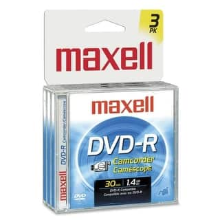 Maxell 567622 Maxell DVD-R Media - 1.4GB - 80mm Mini - 30Minute Maximum Recording Time - 3 Pack Jewel Case|https://ak1.ostkcdn.com/images/products/is/images/direct/6e192bf320f34c87991554562fcd5834caef1f35/Maxell-567622-Maxell-DVD-R-Media---1.4GB---80mm-Mini---30Minute-Maximum-Recording-Time---3-Pack-Jewel-Case.jpg?impolicy=medium