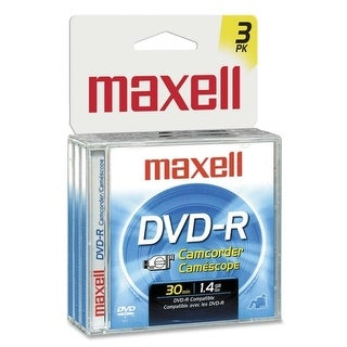 """Maxell 567622 Maxell DVD-R Media - 1.4GB - 80mm Mini - 30Minute Maximum Recording Time - 3 Pack Jewel Case"""