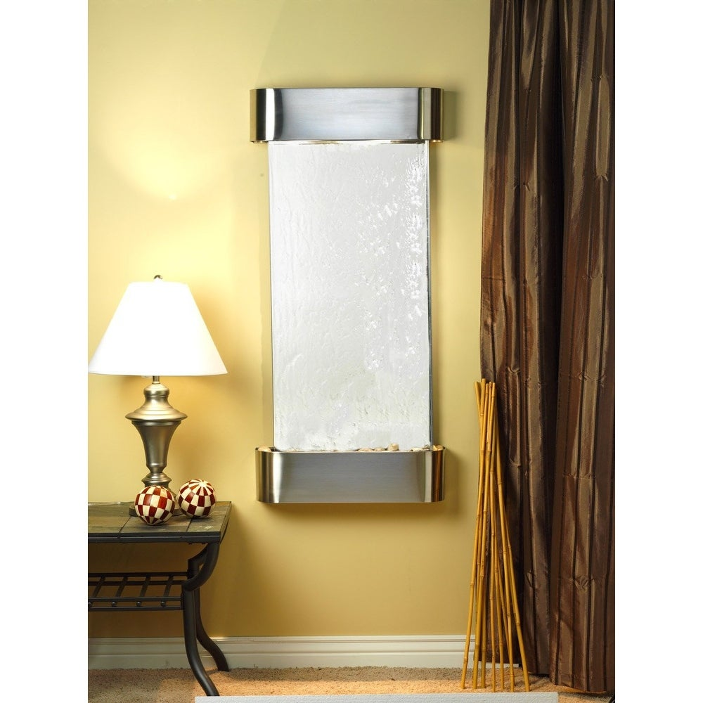 Adagio Cascade Springs Fountain w/ Silver Mirror in Stainless Steel Finish - Thumbnail 0