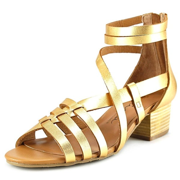 Nina Victor   Open Toe Leather  Gladiator Sandal