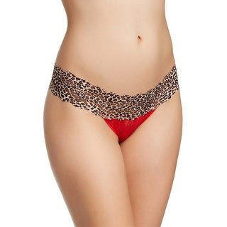 B.Tempt'd by Wacoal Womens Chinese Red Animal Accent Lace Thong