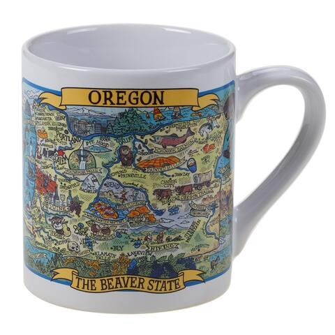 Certified International Oregon Souvenir 20 oz. Jumbo Mugs (Set of 6)