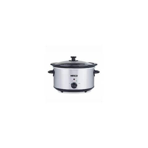 Nesco SC-150-47 Oval Slow Cooker, 1.5-Quart, Silver