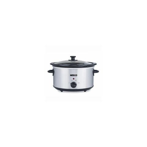 Nesco SC-4-25, 4 Quart Analog Stainless Steel Slow Cooker