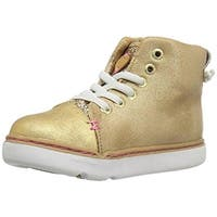 Step and Stride Girls Tilly Fashion Sneakers Metallic High Top