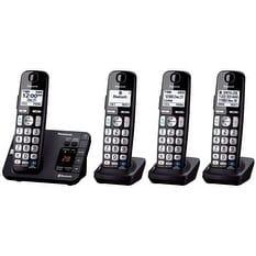 Refurbished Panasonic KX-TG454SK 4 Handset DECT 6.0 Plus Technology Cordless Phone