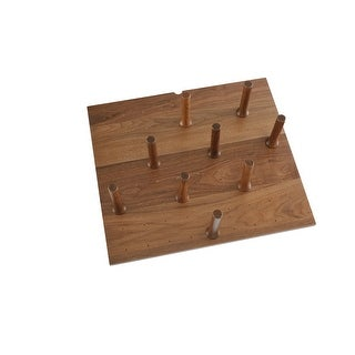 "Link to Small 24 x 21 Wood Peg Board System w/ 9 pegs - 24.25""W x 21.25""D x 6.63""H Similar Items in Laundry"