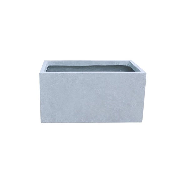 Kante Lightweight Concrete Modern Long Low Outdoor Planter, Small, 23 Inch Long, Slate Gray. Opens flyout.