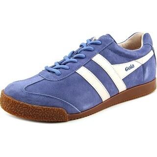 Gola Harrier Women Round Toe Suede Blue Sneakers
