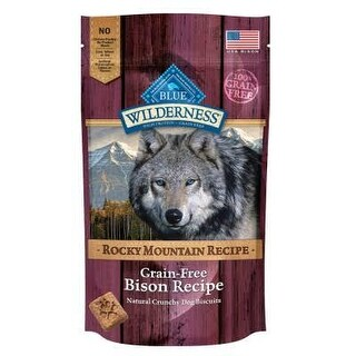 Blue Buffalo Wilderness Rocky Mountain Bison Biscuits 8oz