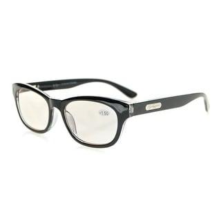 Eyekepper Quality Spring Hinges Mens Womens Amber Tinted Lenses Computer Reading Glasses Black