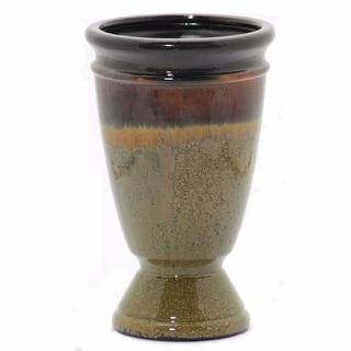 Sophisticated Ceramic Vase, Green