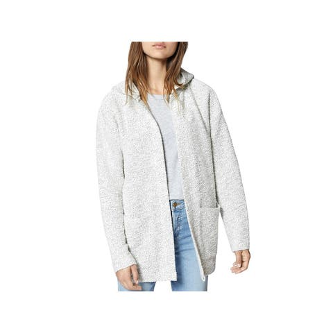 Sanctuary Womens Cardigan Sweater Hooded Open Front - M