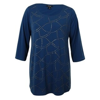 Style & Co Women's Studded Tunic Blouse