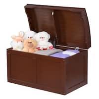 Costway Kids Toy Box Storage Barrel Bins Chest Wood Children Organizer Bedroom Playroom