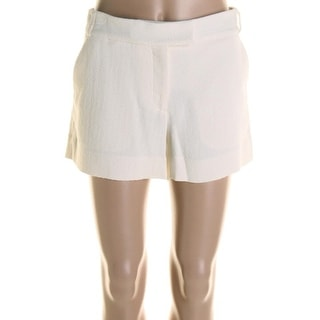 Veronica Beard Womens Textured Flat Front Dress Shorts - 4