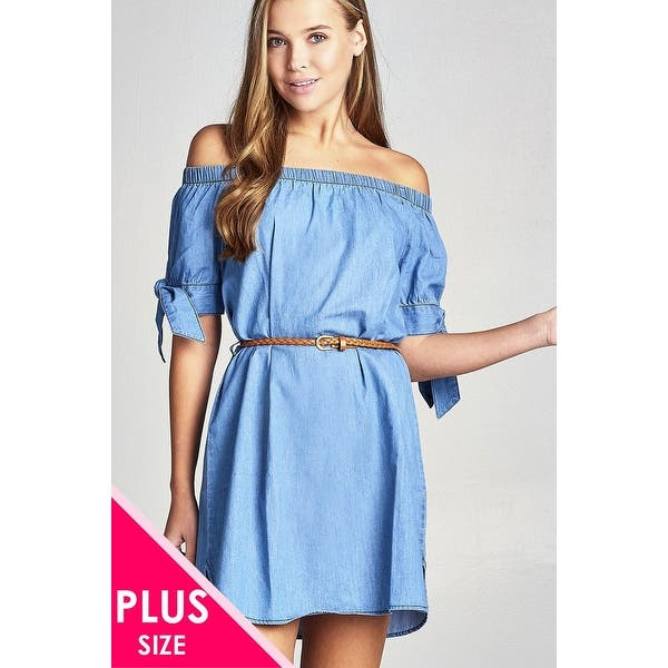 Shop Ladies Fashion Plus Size Short Sleeeve Cuff W/Bow Tie ...