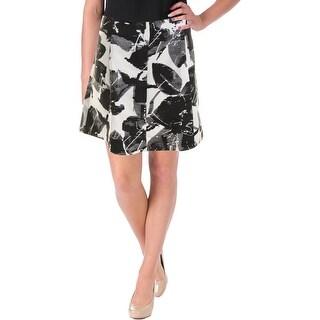 Lucy Paris Womens Printed Mini A-Line Skirt