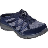 Skechers Women's Relaxed Fit Easy Going Rolling Sneaker Clog Navy