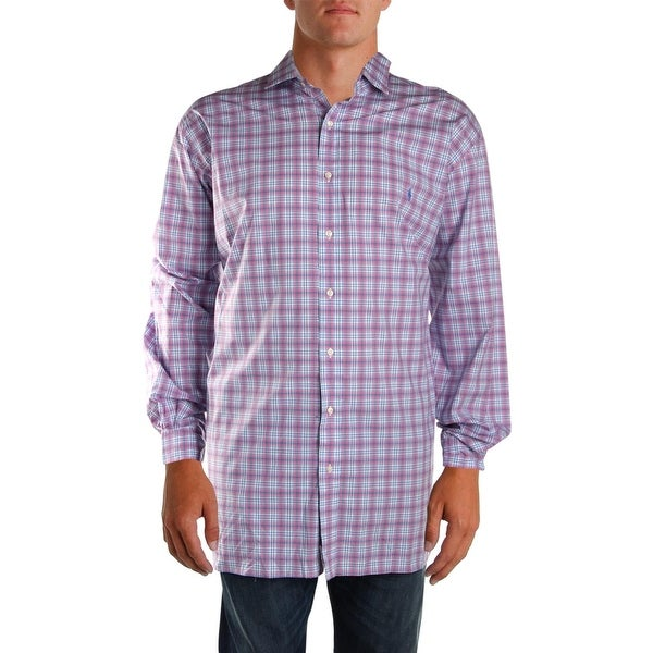 ecb7763a5eaf Polo Ralph Lauren Mens Big  amp  Tall Button-Down Shirt Stretch Plaid - 19