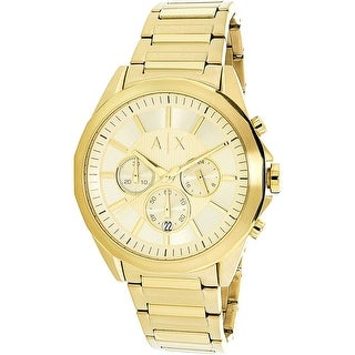 Armani Exchange Men's AX2602 Gold Stainless-Steel Quartz Fashion Watch