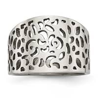 Stainless Steel Polished Cut-out design Ring