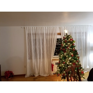 7-foot Pre-lit Artificial Christmas Tree w/Clear or Multicolor Bulbs