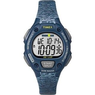 Timex Ironman Classic 30 Mid-Size Watch - Blue/Gray Classic 30 Ms Watch