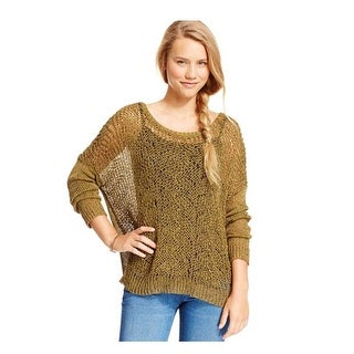 Jessica Simpson Women Eder Marled Open-Knit Crochet Sweater