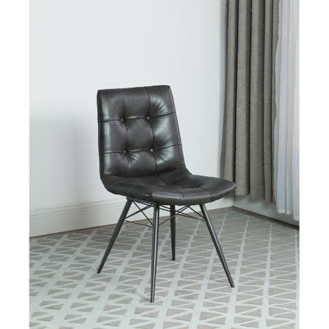 Strick & Bolton Akira Button-tufted Dining Chairs (Set of 4)