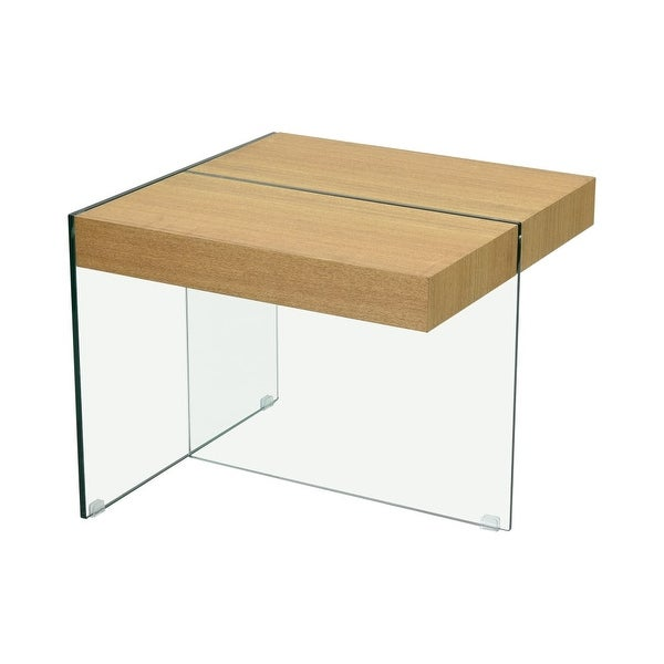 Shop Dimond Home 1203 014 The Func 24 Wide Glass Accent Table With