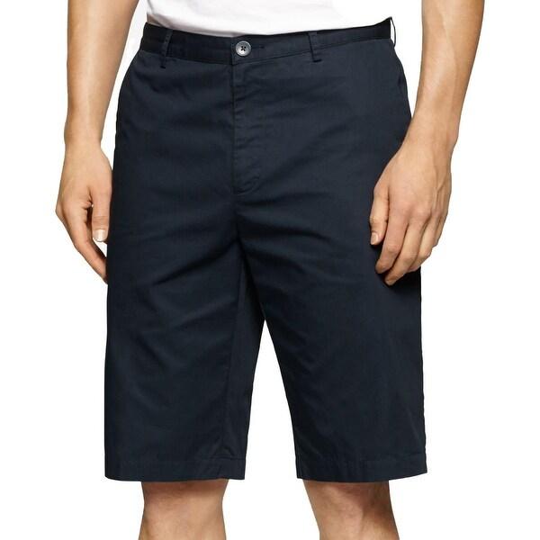 Calvin Klein Mens Piedmont Bermuda, Walking Shorts Twill Flat Front