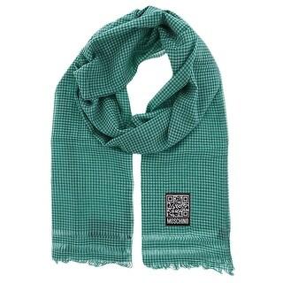 Moschino SCR11242/2 Green/White Checkered Scarf