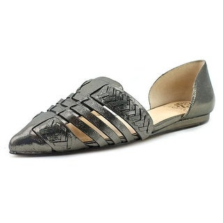Vince Camuto Hadria Women  Pointed Toe Leather Gray Flats