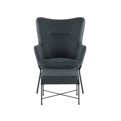 Izzy Lounge Chair with Ottoman - N/A